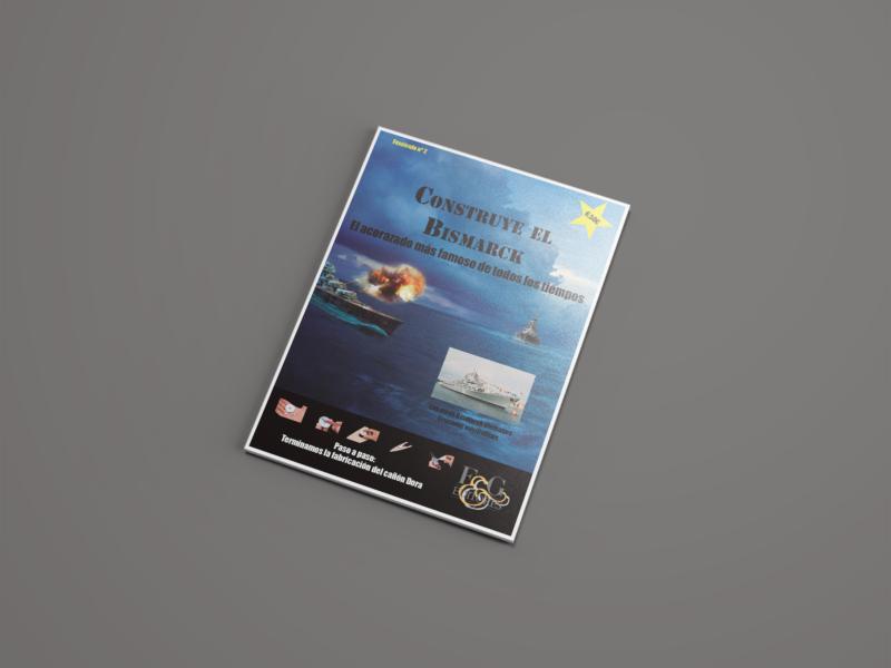 """Maquetado y foto-montaje de uno de los fascículos de """"Construye el Birsmarck"""""""
