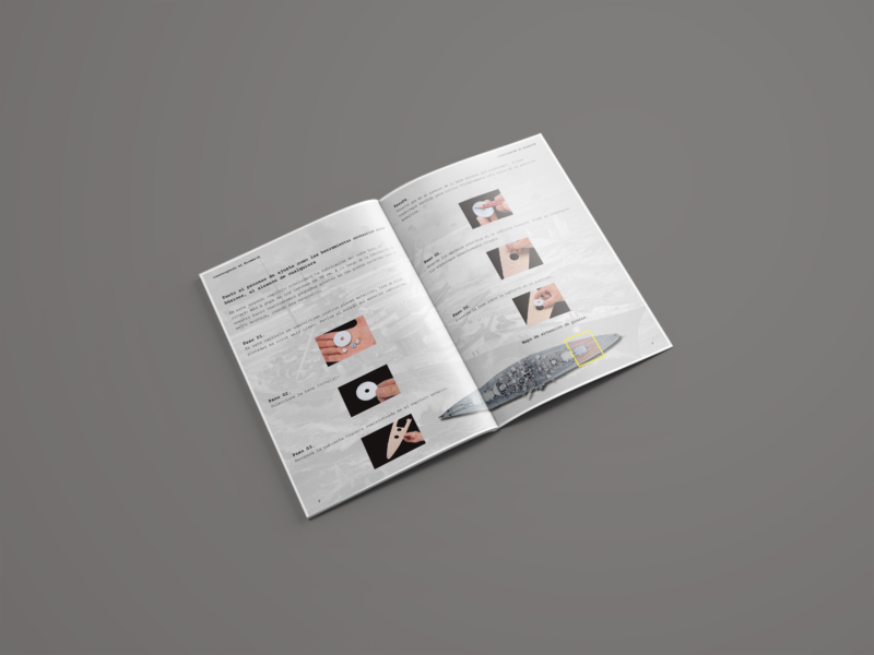 """Maquetado de la parte interior de uno de los fascículos de """"Construye el Birsmarck"""""""
