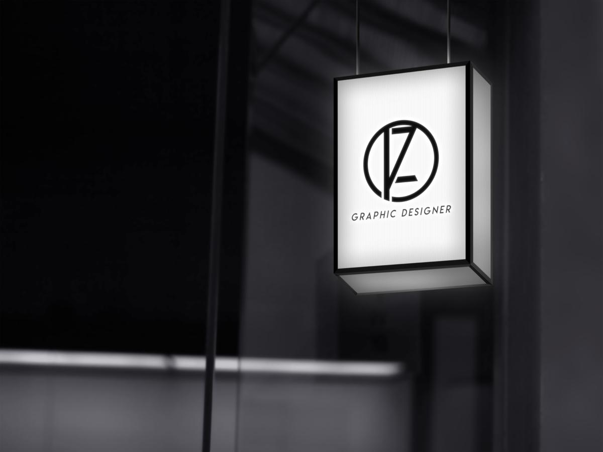 Logotipo de Pablo Zanón en un rotulo