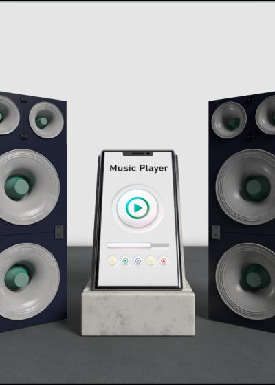Logotipo 3D Music Player